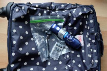 Nassrasierer im Handgepäck