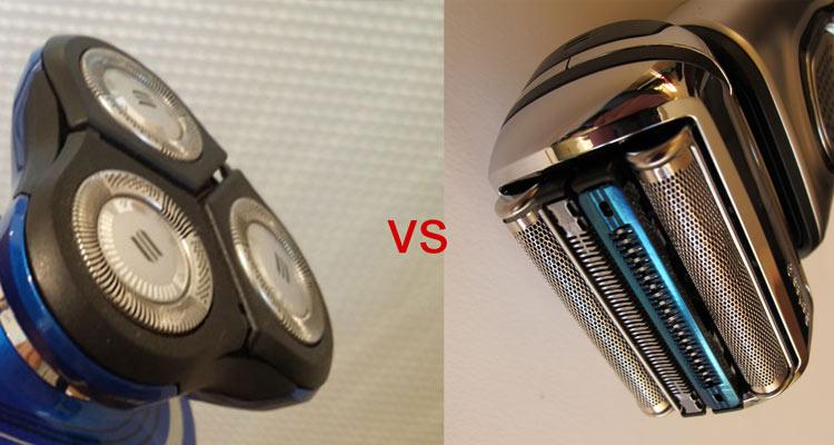 Rotationsrasierer Folienrasierer Scherkopf Vergleich
